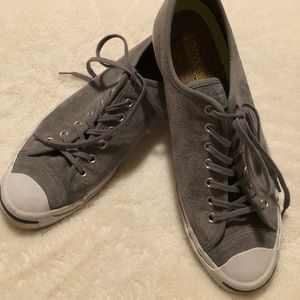 Suede Converse Jack Purcell sneakers